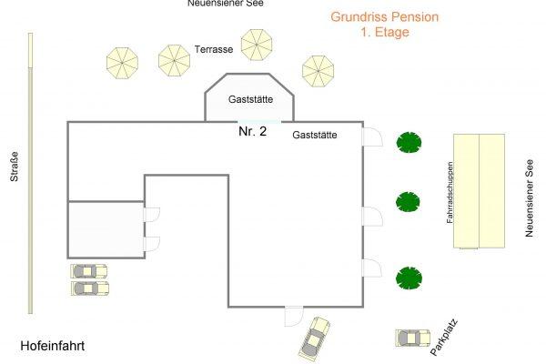 Zimmer 2 Lageplan