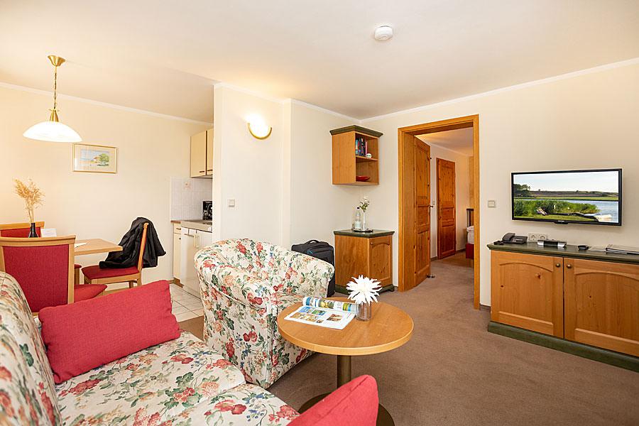 Appartement mit Küche in der Ferienpension Seeblick im Ostseebad Sellin auf Rügen