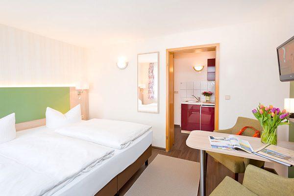 Doppelzimmer der Ferienpension Seeblick in Neuensien auf Rügen