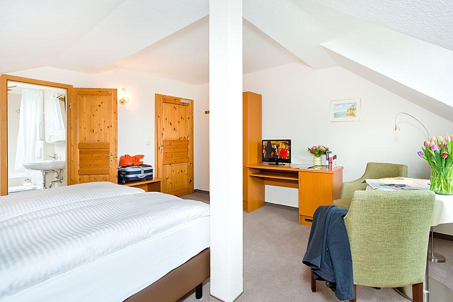Großes Doppelzimmer in der Ferienpension Seeblick im Ostseebad Sellin auf Rügen