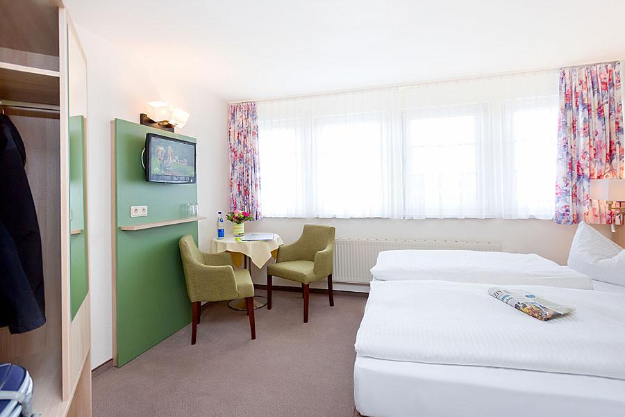 Doppelzimmer in der Ferienpension Seeblick in Neuensien beim Ostseebad Sellin auf Rügen