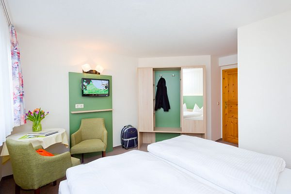 Urlaub im Doppelzimmer in der Ferienpension Seeblick beim Ostseebad Sellin auf Rügen