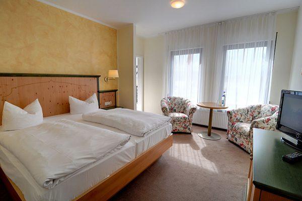 Fewo-Doppelzimmer der Ferienpension Seeblick im Ostseebad Sellin auf Rügen
