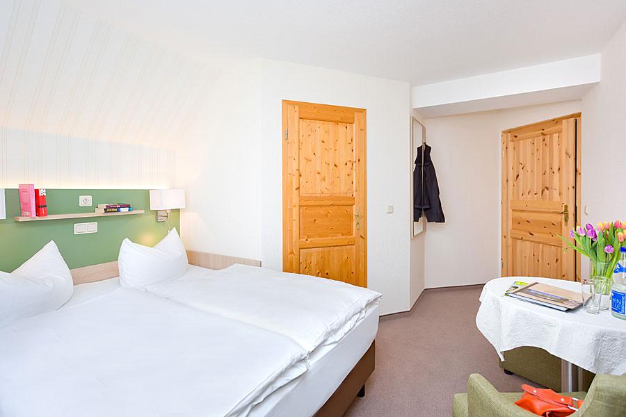 Kleines Doppelzimmer in der Ferienpension Seeblick im Ostseebad Sellin auf Rügen